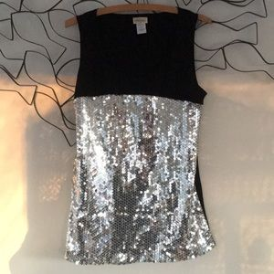 Tops - Sequin sleeveless top, great party piece!